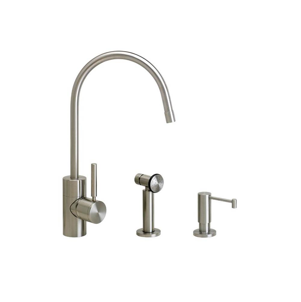 Waterstone Single Hole Kitchen Faucets item 3800-2-PB