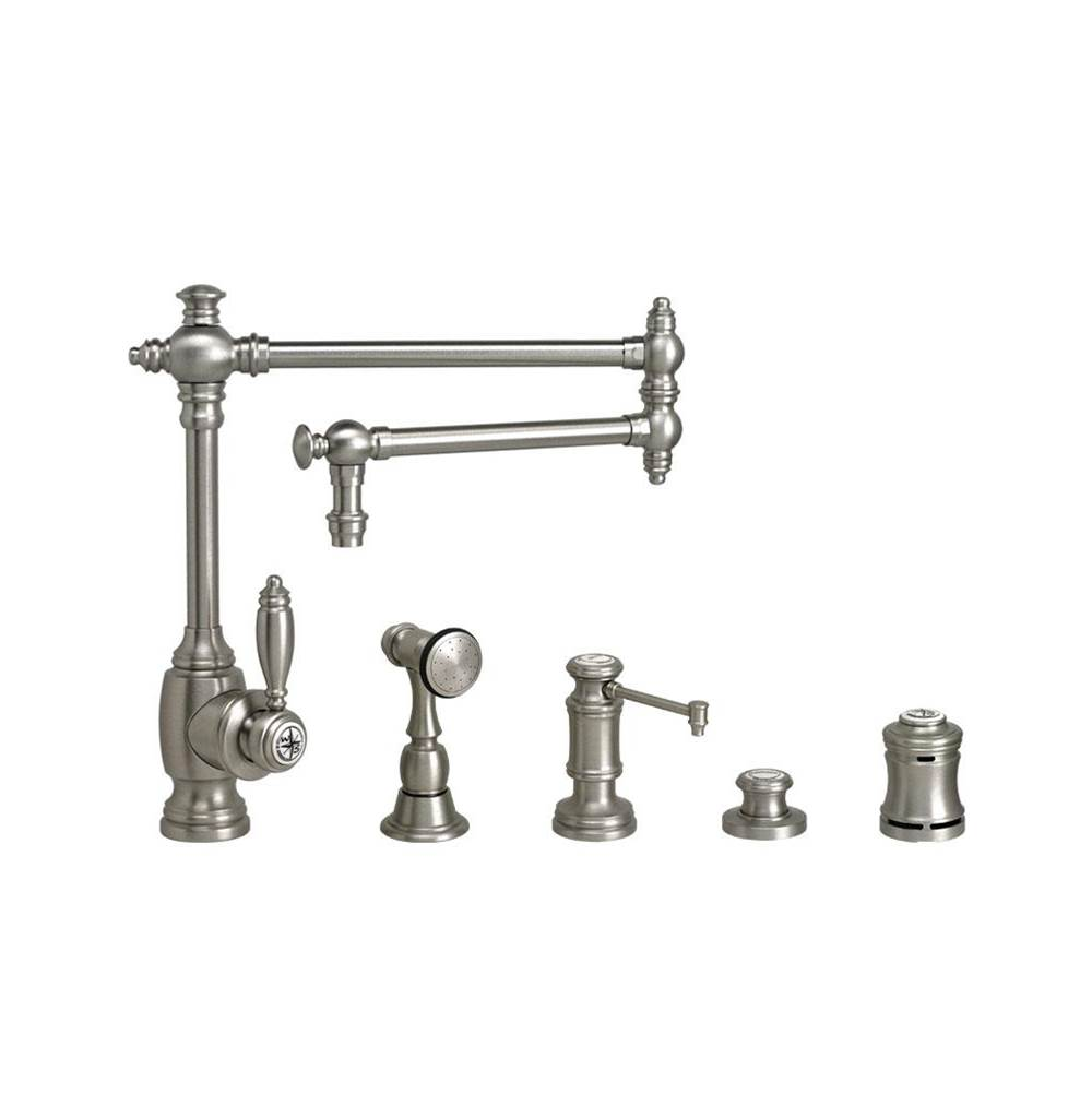 Waterstone Single Hole Kitchen Faucets item 4100-18-4-SG