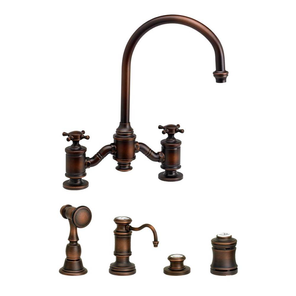 Waterstone Bridge Kitchen Faucets item 6350-4-SB